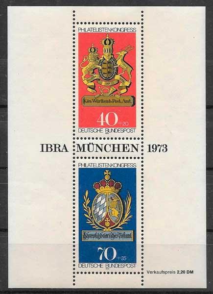 sellos temas varios Alemania 1973