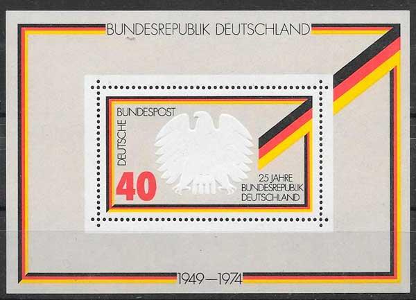 sellos temas varios Alemania 1974