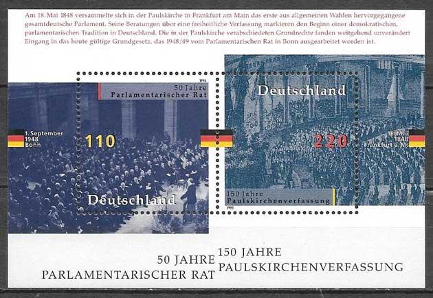 sellos colección Constitución Alemania 1998