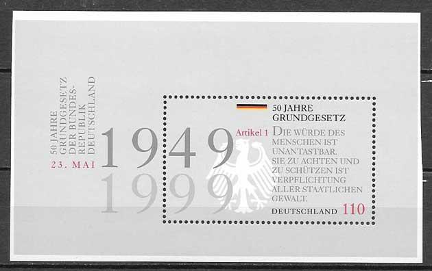 sellos centenario Ley Alemania 1999