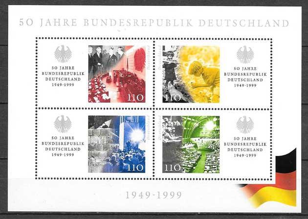 Filatelia Aniversario República Alemania 1999