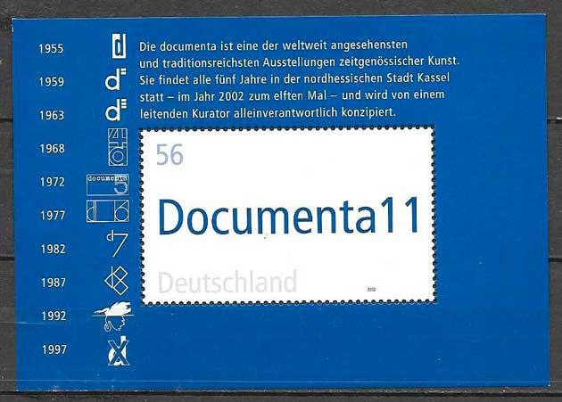 filatelia temas varios Alemania 2002