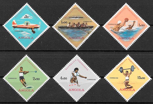 selos deporte Angola 1962
