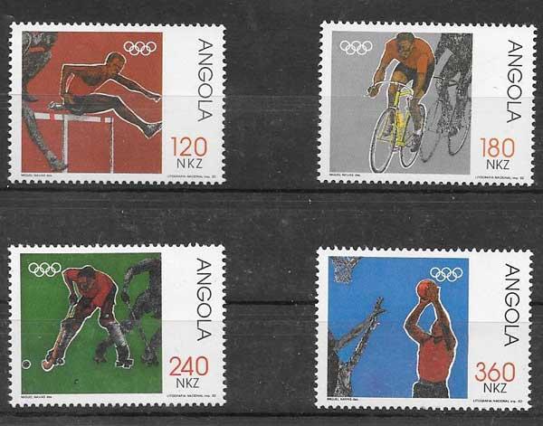 sellos deporte Angola 1992