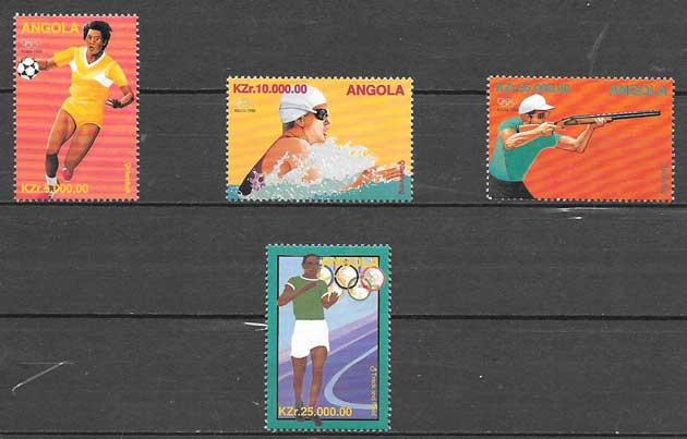sellos colección deporte Angola 1996