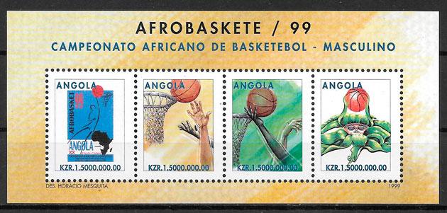 sellos deporte Angola 1999