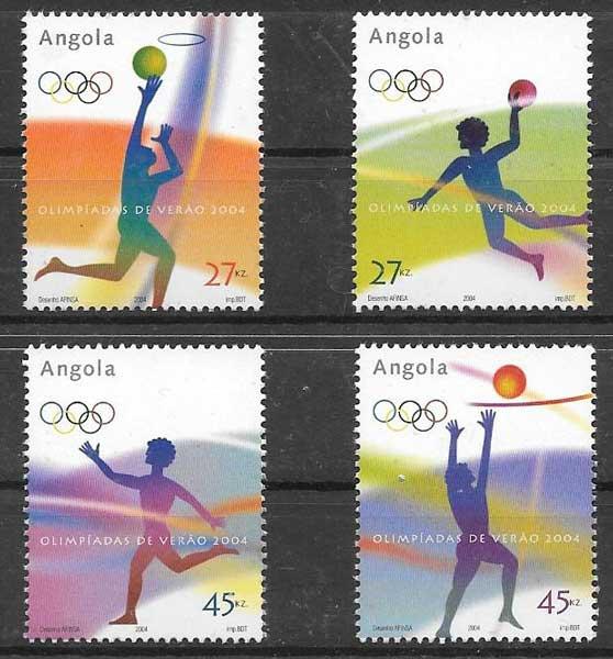 sellos deporte Angola 2004