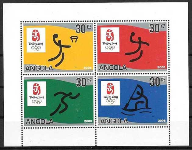sellos colección deporte Angola 2007