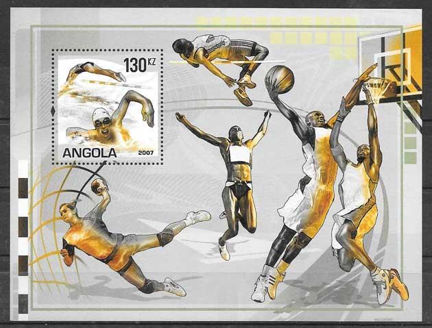 filatelia deporte Angola 2007