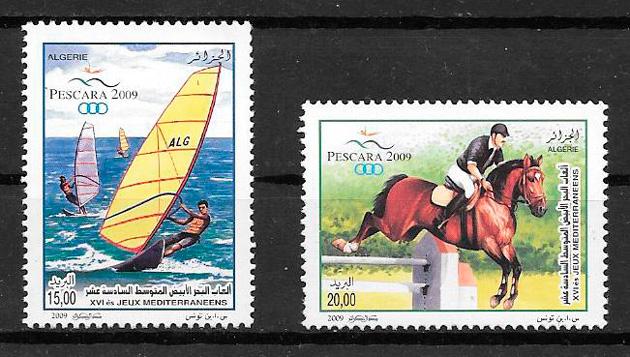 filatelia colección deporte Argelia 2009