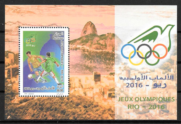 filatelia colección deporte Argelia 2016