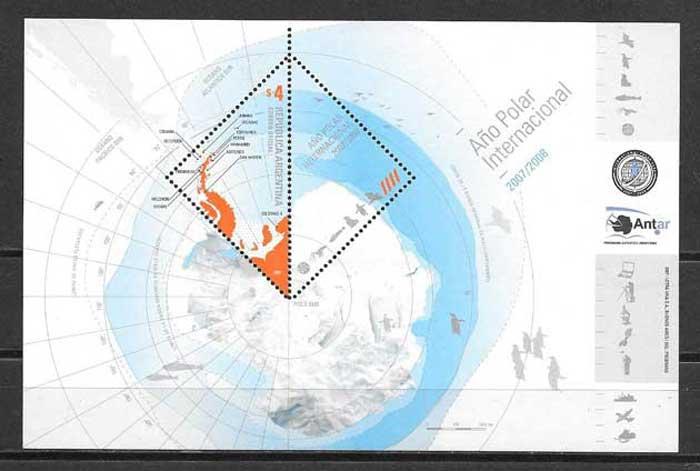 colección sellos temas varios Argentina 2007
