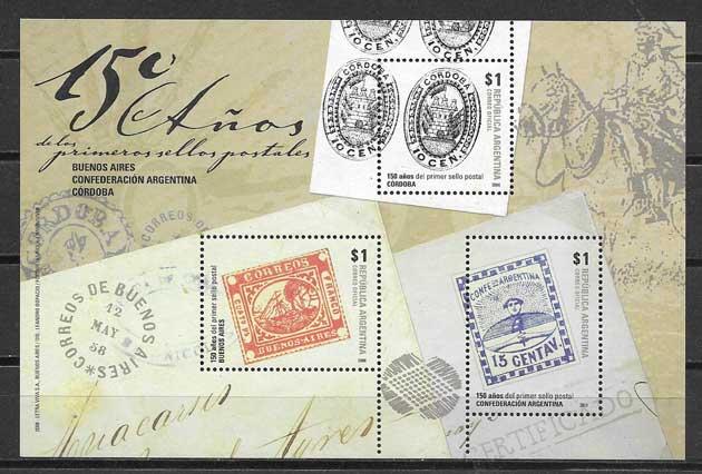 filatelia colección temas varios Argentina 2008