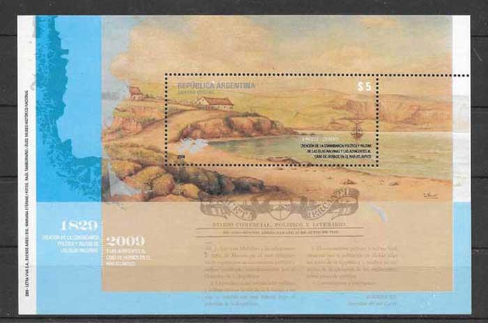 colección sellos temas varios Argentina 2009