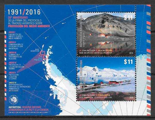 colección sellos Argentina 2016 temas varios