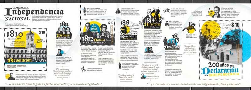 colección sellos temas varios Argentina 2016
