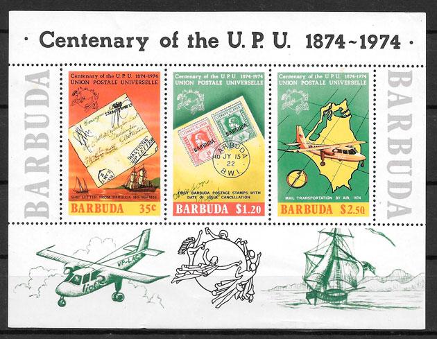 sellos temas varios Barbuda 1975
