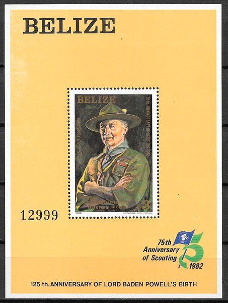 sellos temas varios Belice 1982