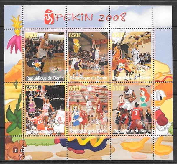 sellos deporte Benin 2008