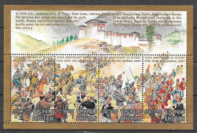 filatelia temas varios Bhutan 1994