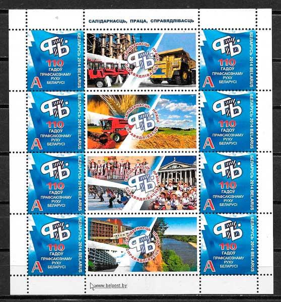 sellos filatelia varios tema Bielorrusia 2014