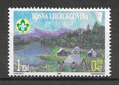 filatelia temas varos Bosnia Herzegovina 2002