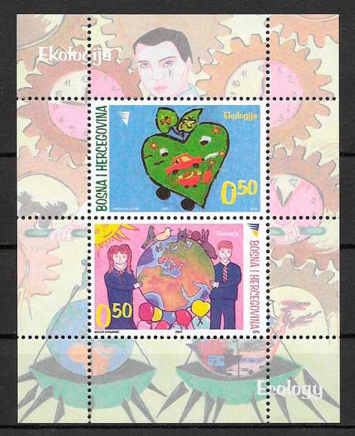 colección sellos temas varios Bosnia Herzegovina 2007