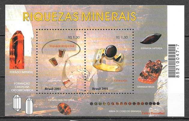 filatelia temas varios Brasil 2001