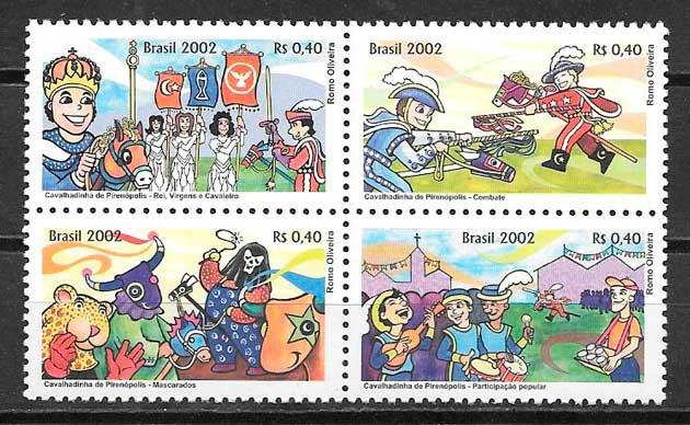 colección selos temas varios Brasil 2002