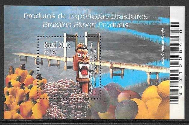 colección sellos temas varios Brasil 2003