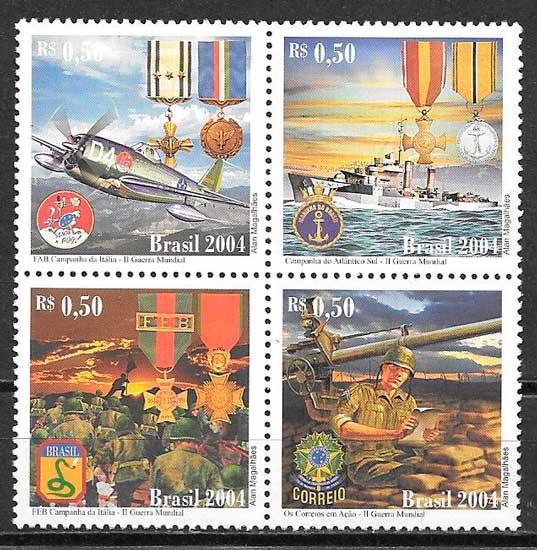 sellos temas varios Brasil 2004