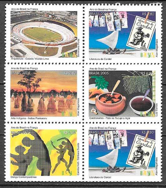 filatelia colección temas varios Brasil 2005