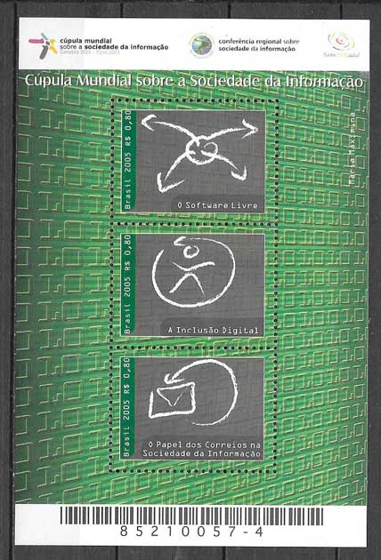 sellos temas varios Brasil 2005