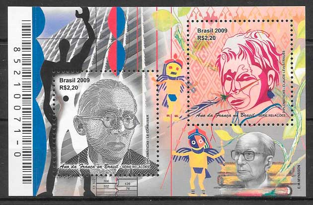 colección sellos temas varios Brasil 2009