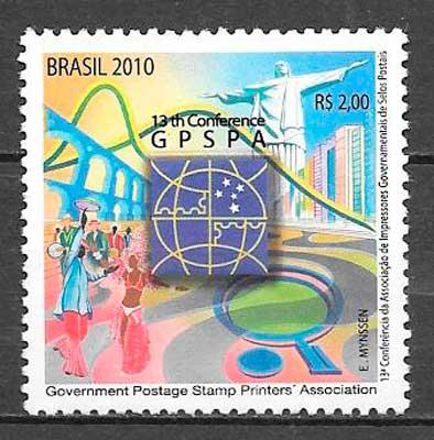 sellos temas varios Brasil 2010