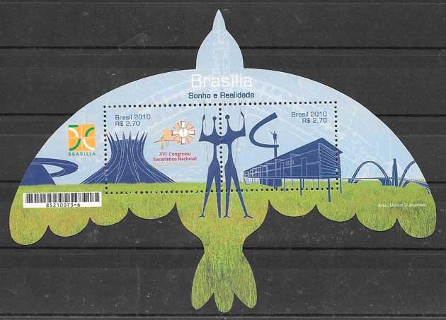 colección sellos temas varios 2010 Brasil