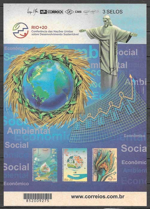 filatelia temas varios brasil 2012