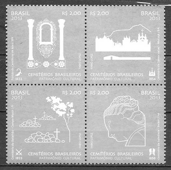 sellos temas varios Brasil 2013