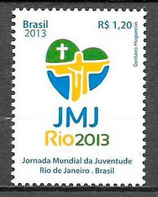 filatelia colección temas varios Brasil 2013