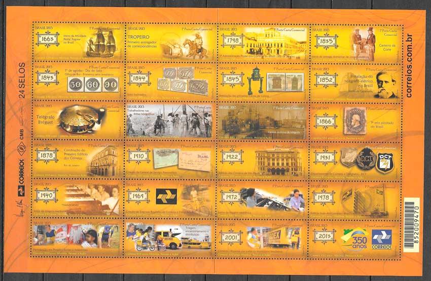 colección sellos temas varios Brasil 2013