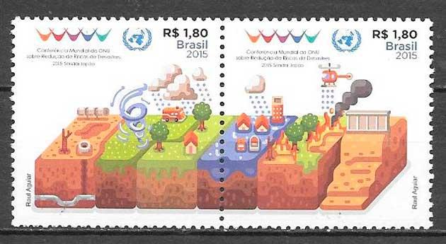 filatelia temas vario Brasil 2015