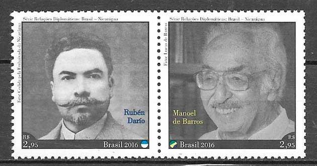 sellos temas varios Brasil 2016