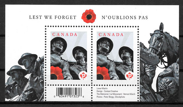 sellos temas varios Canada 2009