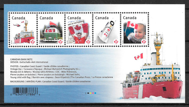 sellos temas varios Canada 2012