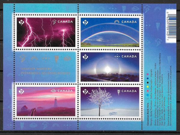 coleccion sellos temas varios Canada 2015