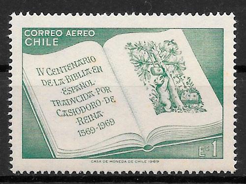 sellos temas varios Chile 1969