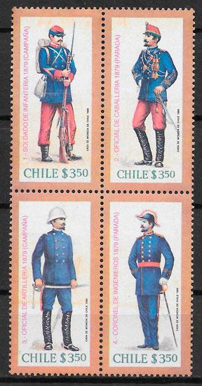 colección selos temas varios Chile 1980