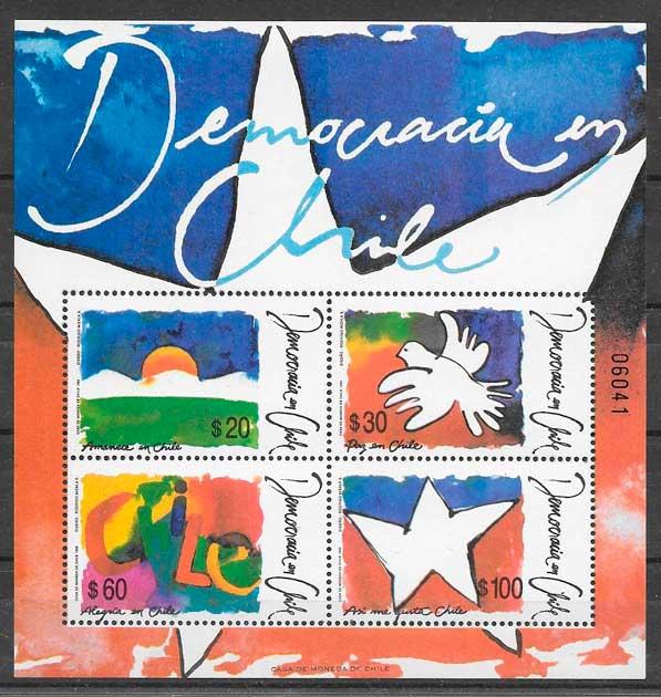 sellos temas varios Chile 1990