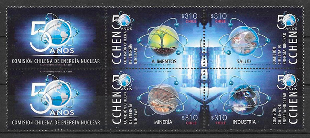 colección sellos temas varios Chile 2014