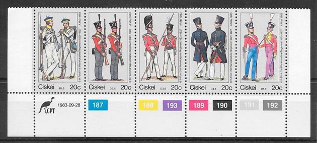 colección sellos temas varios Ciskei 1983